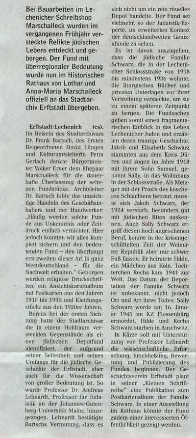 3.6.2015 Erftstadt Anzeiger