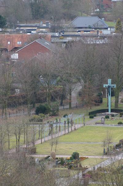 Teil des Friedhofs, Februar 2014