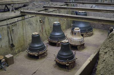 Glockengießerei, Glockengrube, Februar 2014