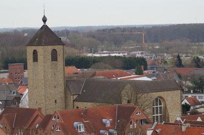 Luftaufnahme der Marienkirche, Februar 2014