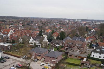 Blick vom Kirchturm Richtung Südosten, Februar 2014