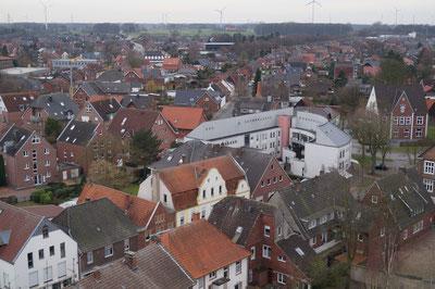 Blick vom Kirchturm Richtung Westen, Februar 2014