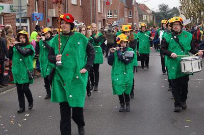 Karneval 2014, Musikgruppe im Umzug, Februar 2014