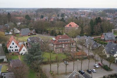Blick vom Kirchturm Richtung Südwesten, Februar 2014