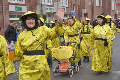 Karneval 2014, Fußgruppe im Umzug, Februar 2014