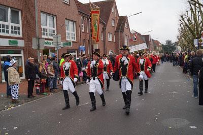 Karneval 2014, Standartengruppe im Umzug, Februar 2014