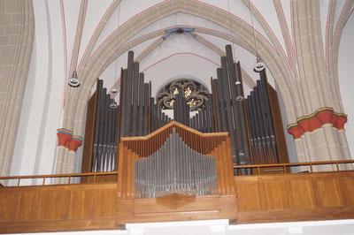 Orgel der Pankratiuskirche, Januar 2014