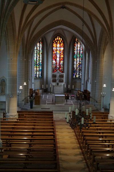 Mittelschiff der Pankratiuskirche, Februar 2014