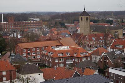 Marienkirche, Huesker Synthetic, Rathaus, Februar 2014