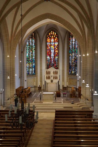 Chorraum der Pankratiuskirche, Februar 2014