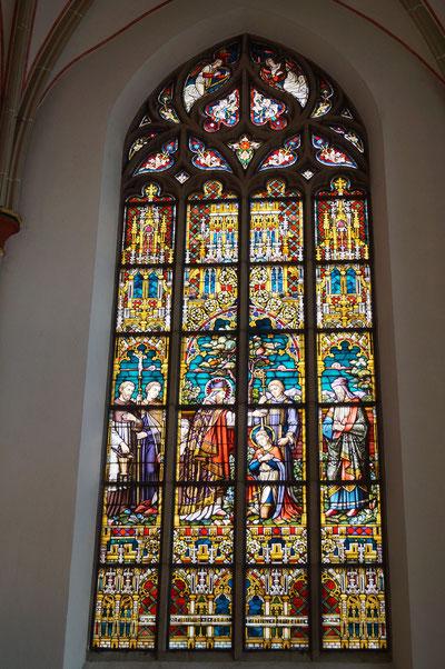 Seitenfenster in der Pankratiuskirche, Februar 2014