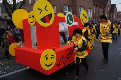 Karneval 2014, Motivwagen im Umzug, Februar 2014
