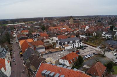 Blick vom Kirchturm Richtung Osten, Februar 2014