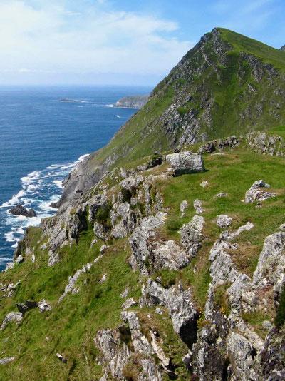 Reiseberichte Irland: Urlaub auf Achill Island, Klippen
