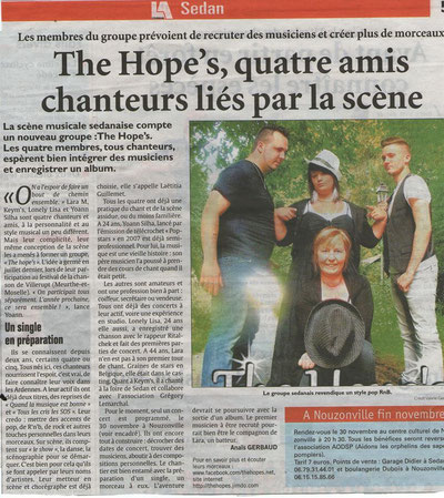 Article sur L'union/L'ardennais