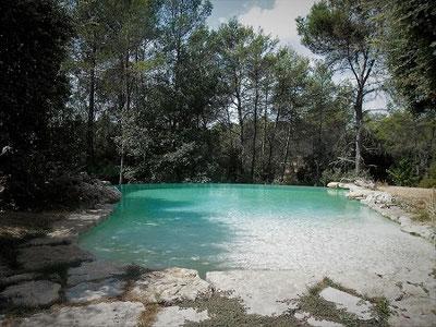 prix piscine débordement pierre