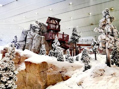 Auch eine Möglichkeit sich abzukühlen - Ski Dubai