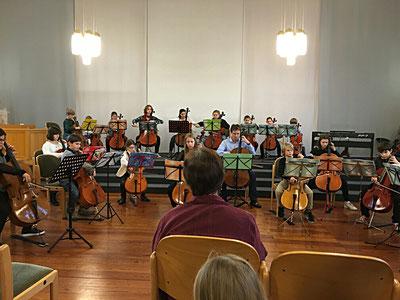 Celloorchester, Schülervorspiel Februar 2016