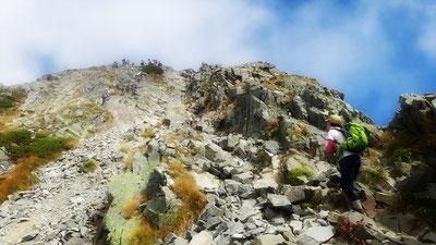 頂へ最後の登り