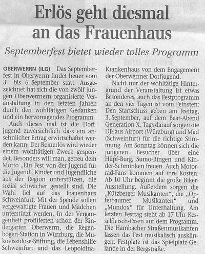 24.08.2004 Schweinfurter Tagblatt