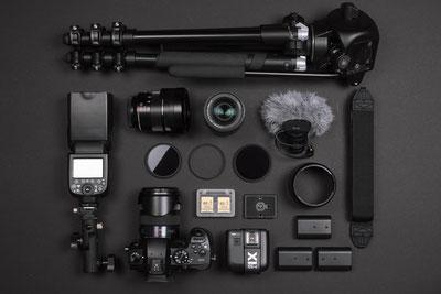 Setup für professionelle Fotos