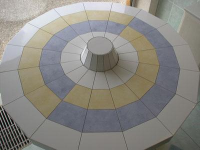 Meisterstück - Sechzehneckige Tischplatte mit Stumpf - Draufsicht