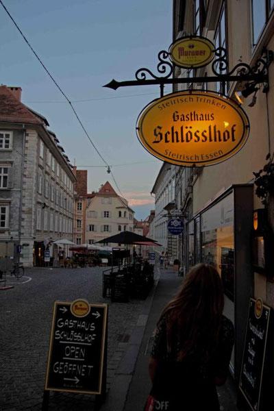 Abends waren wir dann noch in Graz.