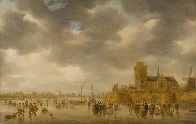 IJstafereel bij Dordrecht (collectie Dordrechts museum)