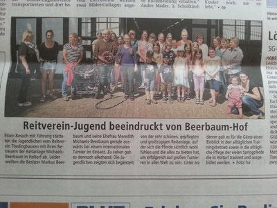 Ausschnitt aus der Kreiszeitung Thedinghausen