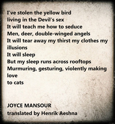 Joyce-Mansour translated by Henrik-Aeshna