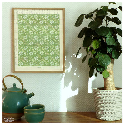 #chêne #arbre #gravure #linogravure #ancien #papier #kitsch #paradise #kp #peinture #artisan #créateur #artisanat #mandala #mantra