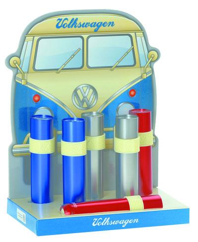 VW, Volkswagen Taschenlampe mitVW Logo, Alu-Taschenlampe 9er LED