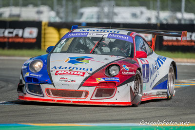 Porsche du Team IMSA Performance ; Pernaut , Narac , gt tour , GT3-R , circuit bugatti , circuit du mans , brandella , ferrari , audi , R8 lms