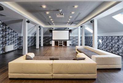 Heimkino Loft Wohnzimmer Kino