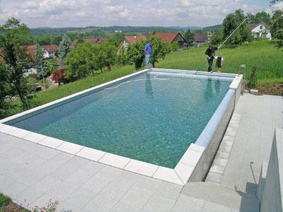 garten pool bauen aqua nova schwimmbad wellness ag. Black Bedroom Furniture Sets. Home Design Ideas