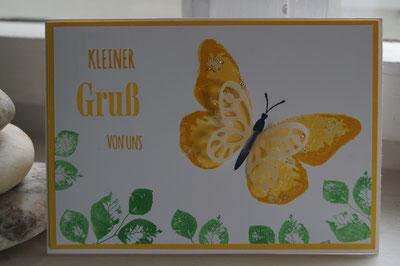 Der erste Schmetterling mit dem neuen Stempelset - Patricia Stich 2015