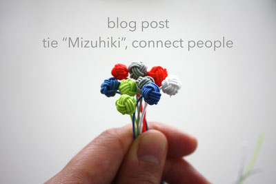 tie Mizuhiki, connect people