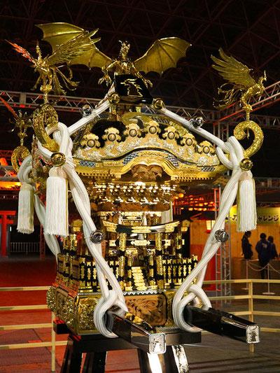 Cygames 神輿が日比谷大江戸まつり・お祭りパレードに登場、初の担ぎ上げ。サイゲームス, Cygames, 神輿