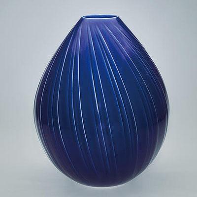 瑠璃釉壺 D30.6×H37 (2020)