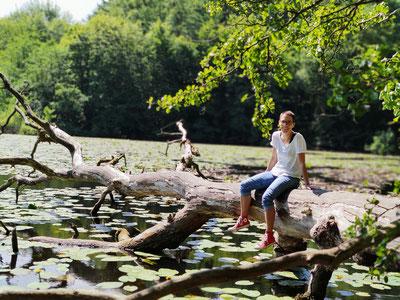 Christine Lehr im Wald, Inspiration aus der Natur