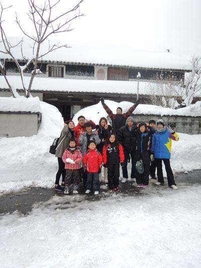 大雪の中、3家族さま・ご同僚・お友達で賑やかに!
