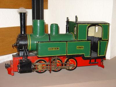 "Modell der Spessart-Lokomotive ""Bieber I"""