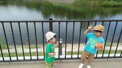 奈良クラブ 鴻池陸上競技場ならでんフィールド 池