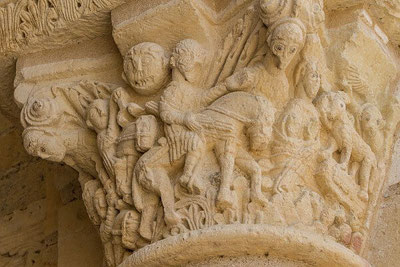 Chapiteau sculpté de l'Abbaye de Fleury à St Benoît sur Loire