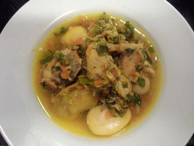 鯖の水煮と白いんげんのカレー風味