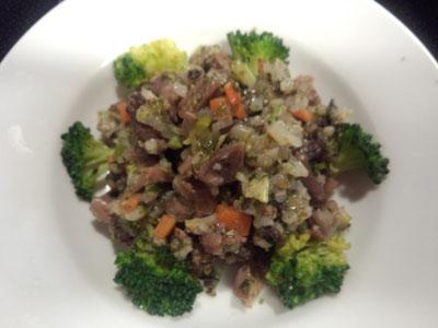 マグロと砂肝の炒飯