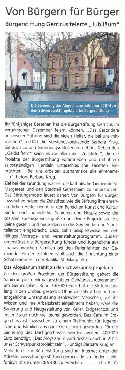 01/2014, Gerresheimer Gazette