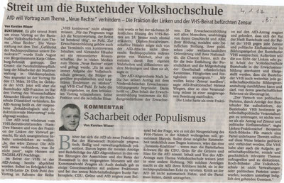 Buxtehuder Tageblatt, 04.01.2017