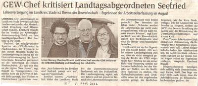 Buxtehuder Tageblatt, 11.03.2016