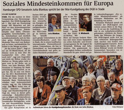Buxtehuder Tageblatt, 02.05.2014
